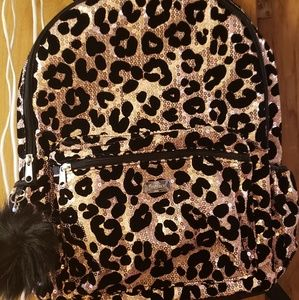 New Justice Cheetah Sequin backpack